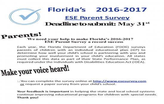 ESE Parent Survey