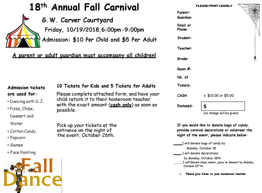 Fall Carnival / Carnaval Anual-de-Otono @ G.W. Carver Courtyard
